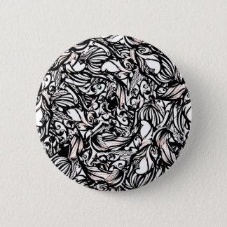 schwarz runder button 5,1 cm