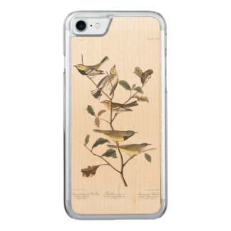 Schwarz-throated grüner Trällerer Audubon Carved iPhone 8/7 Hülle