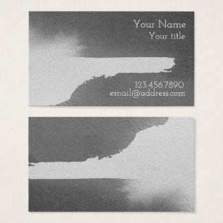 Schwarz u. grau, Wasser-Farbgeschäft - Visitenkarte