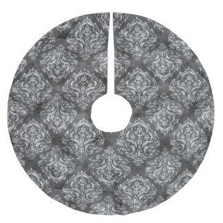 Schwarz u. Weiß blühen Sie - Weihnachtsbaum-Rock Polyester Weihnachtsbaumdecke