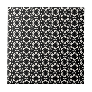 Schwarz u. Weiß kopiert | Hexagone II Fliese