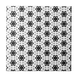 Schwarz u. Weiß kopiert | Hexagone III Fliese