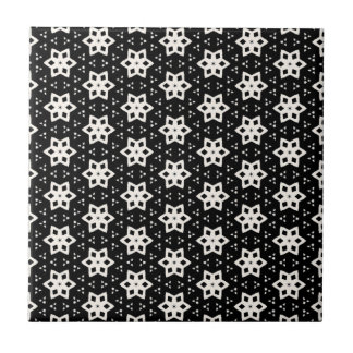 Schwarz u. Weiß kopiert | Hexagone IV Keramikfliese