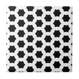 Schwarz u. Weiß kopiert | Hexagone VI Fliese