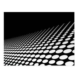 Schwarz u. Weiß punktiert Perspektive Postkarte