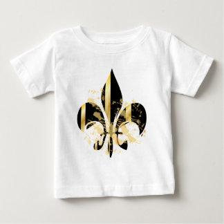 Schwarz-und GoldLilie Baby T-shirt