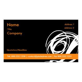 Schwarz und Orange!! Swoosh… Visitenkarten