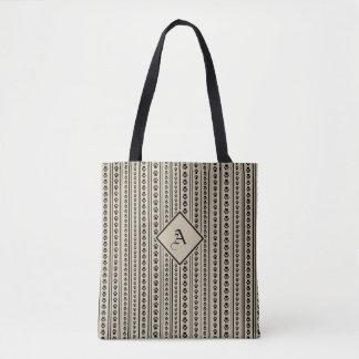Schwarz-und-Taupe-Tatzen-Druck-Streifen-Tasche mit Tasche