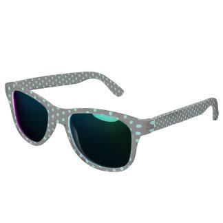 Schwarz-und Türkis-Blau-Punkte-Muster Brille