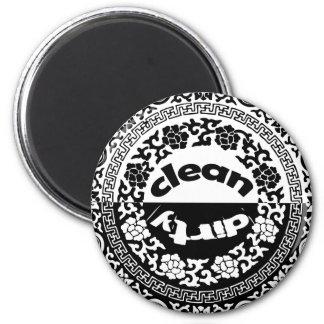 Schwarz/weiß säubern Sie,/schmutziger Spülmaschine Runder Magnet 5,1 Cm