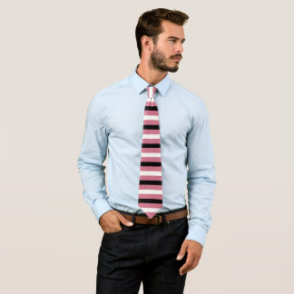 Schwarz, weiß, Stripes Charme Muster Krawatte