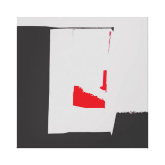 Schwarz-weiß und wenig rot leinwanddruck