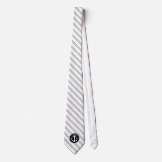 Schwarz-weiße Anker-Krawatte Individuelle Krawatten