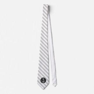 Schwarz-weiße Anker-Krawatte Krawatte