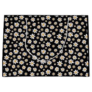 Schwarz-Weiße Blumen Geschenktüte