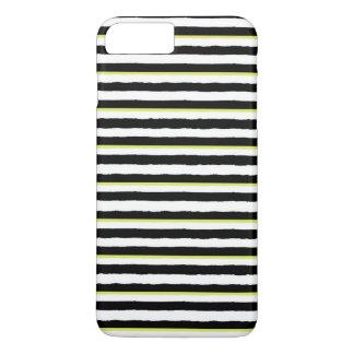 Schwarz-weiße Chartreuse gestreifte iPhone 6 iPhone 8 Plus/7 Plus Hülle