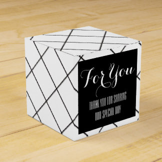 Schwarz-weiße Diamant-Gastgeschenke Hochzeit Geschenkkartons
