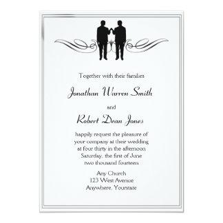 Schwarz-weiße Eleganz-homosexuelle Karte