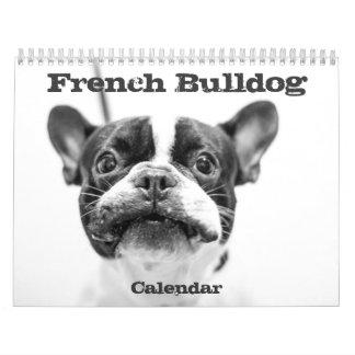 Schwarz-weiße Gewohnheit des französische Kalender
