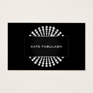 Schwarz-weiße Golddiamant-Friseur-Schönheit Visitenkarte