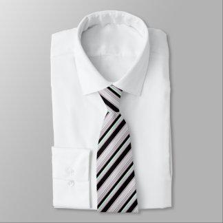 Schwarz-weiße hellgrüne/rote Streifen Personalisierte Krawatten
