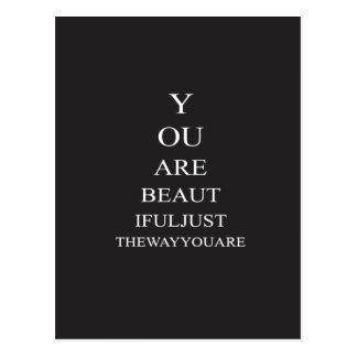 Schwarz-weiße Liebe-Inspirational Zitat Postkarte