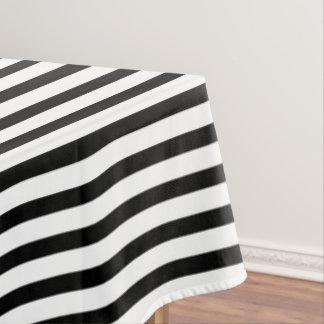 Schwarz-weiße nautischstreifen und schwarzer Anker Tischdecke