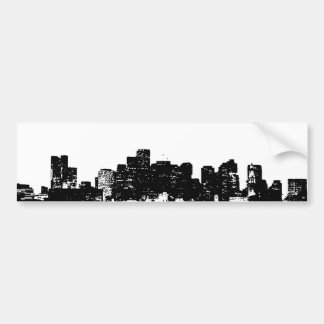 Schwarz-weiße Pop-Kunst New York City Autoaufkleber