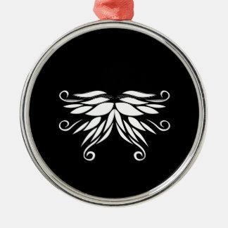 Schwarz-weiße SibirienNordicverzierungen Silbernes Ornament