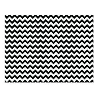 Schwarz-weiße Sparren Postkarte