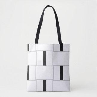 Schwarz-weiße und graue Farbblöcke Tasche