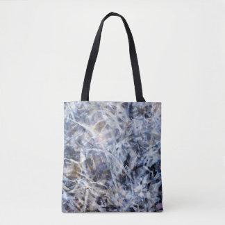 Schwarz-, weiße und Graueabstrakte Tasche