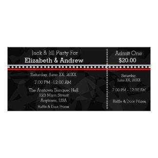 Schwarz-weiße und rote Jack-u. Jill-Duschen-Karten Werbekarte