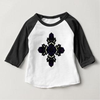 Schwarz-weiße Verzierungen Baby T-shirt