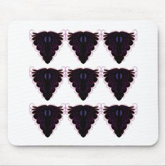 Schwarz-weiße Verzierungen Mousepads