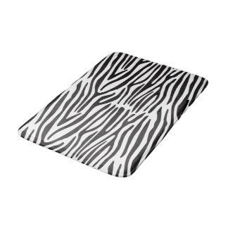 Schwarz-weiße Zebra-Streifen-Tierdruck-Bad-Matte Badematten