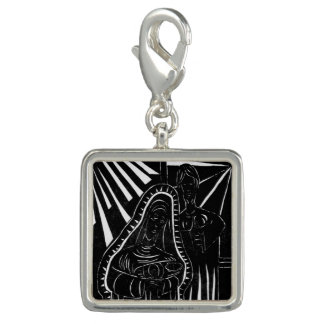 Schwarz-weißer abstrakter Nativity-religiöses Charm