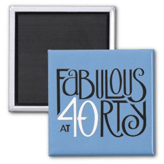Schwarz-weißer blauer Magnet fabelhafte 40