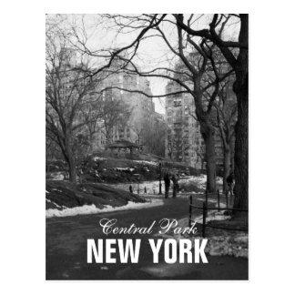 Schwarz-weißer Central Park New York Postkarte