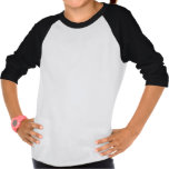 Schwarz-weißer der Raglan-T - Shirt der