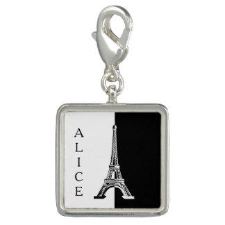 Schwarz-weißer Eiffel-Turm Foto Anhänger