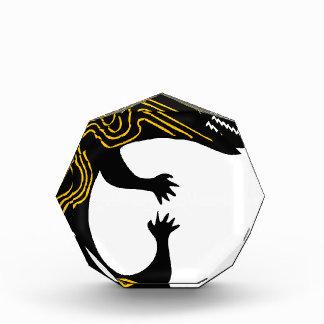 Schwarz-weißer Entwurf der Acryl Auszeichnung