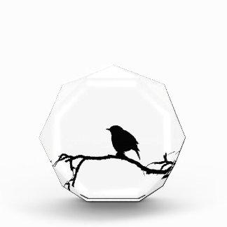Schwarz-weißer Entwurf der Vogelkunst-Inspiration Acryl Auszeichnung