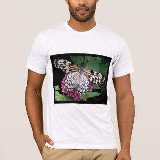 Schwarz-weißer gemusterter Schmetterling T-Shirt