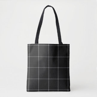 Schwarz-weißer GitterTartan kariert Tasche