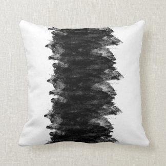 Schwarz-weißer Grunge Kissen
