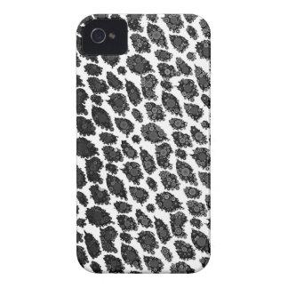Schwarz-weißer Leopard iPhone 4 Hülle