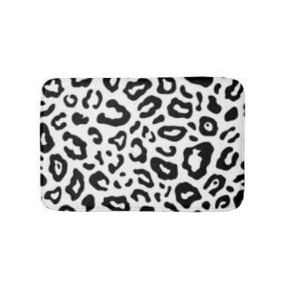 Schwarz-weißer Leopard-Muster-Druck-Entwurf Badematte
