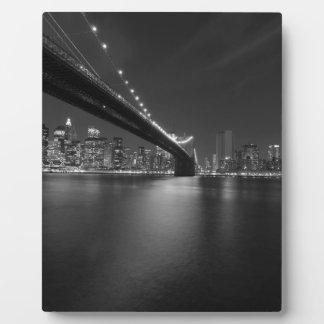 Schwarz-weißer New York CitySkyline Fotoplatte