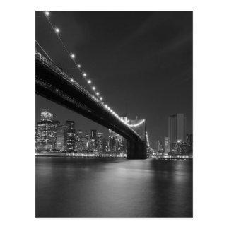 Schwarz-weißer New York CitySkyline Postkarten